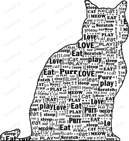 Personalized Cat Memorials Art Cat Memorial 8 X 10 Print Cat Memorial Word Art