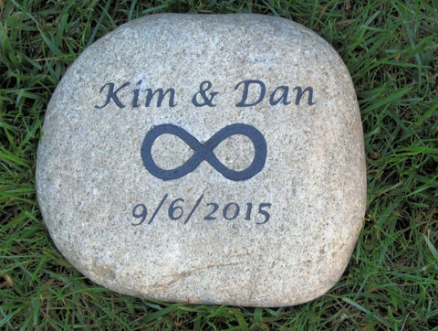 Personalized Wedding Gift Oathing Stone 9-10 Inch Oath Stone with Infinity Symbol Wedding Engagement Gift Ideas - Pet Memorial Stones, Personalized Pet Stone Memorial Grave Marker, Dog Memorial, Cat Memorials, Pet Gravestone Markers, Headstone