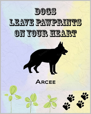 German Shepherd 8 X 10 Print. German Shepherd Pet Gifts