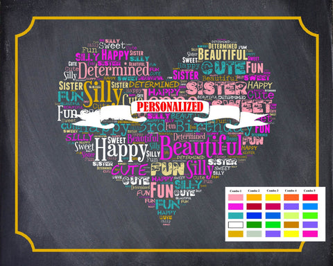 Personalized 2nd Birthday Gift 2nd Birthday Gift Second Birthday Gift Ideas Chalkboard Word Art Poster DIGITAL DOWNLOAD .JPG