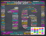 16th Birthday Gift 16th Birthday Gift Personalized Sweet Sixteen Birthday Gifts 16 Birthday Chalkboard Word Art Poster DIGITAL DOWNLOAD .JPG