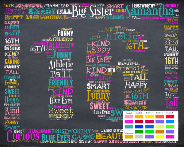 sc 1 st  Birthday Gifts | Anniversary Gifts & 16th Birthday Gifts16 Sweet Sixteen Birthday Gifts DIGITAL DOWNLOAD