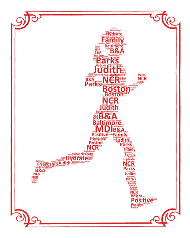 PERSONALIZED Runner Gift Runner Gift Word Art Runner Player Gift Ideas Jogger Gifts 8 x 10 Print