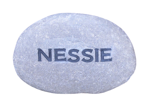 Engraved River Stone Cute Home or Garden Decor 4-5 Inch Stone