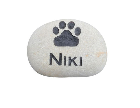 Pet Memorial Stone Engraved Stone 3-4 Inch Memorial Burial Cemetery Stone Marker
