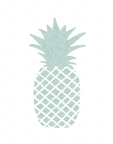 Pineapple Print. Blue Texture Pineapple Wall Art Pineapple Wall Art 8 x 10 Print