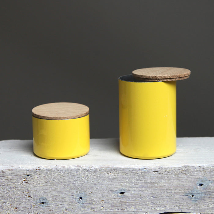 Upcycled Storage Box Yellow - Remade By Werkwoll by Lena Peter