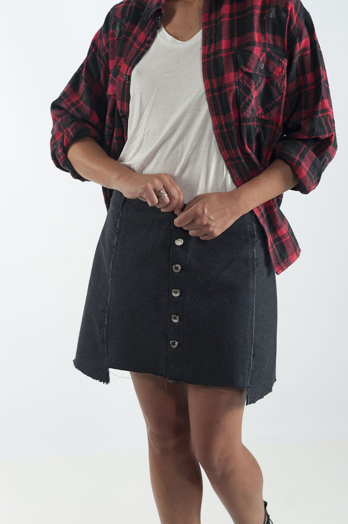 Upcycled Skirt by Wylde | Remade By