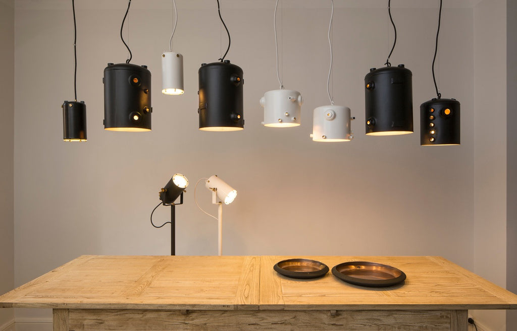 Copper Boiler Lamps Made From Espresso Machine by Willem Heeffer. Remade By Shop