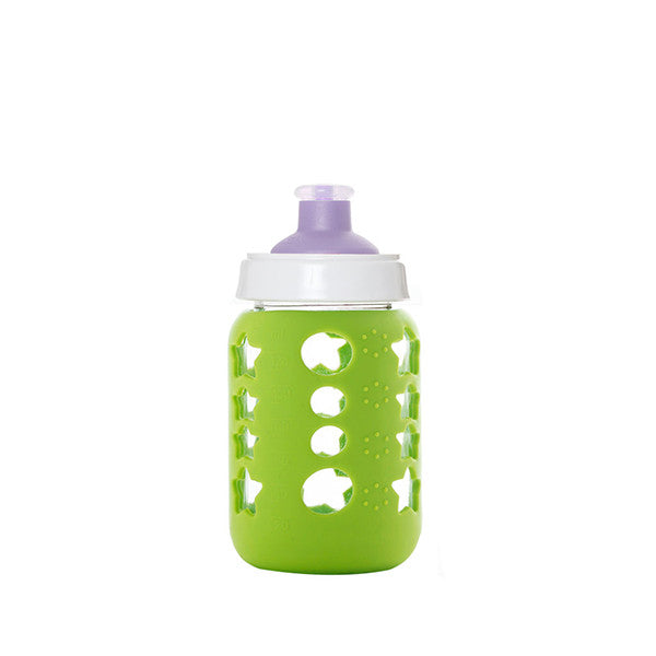 Upcycled Baby Food Glass Jar Sports Cup Green - Remade By KeepJar