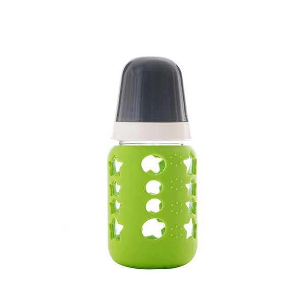 Reuse Baby Bottle with Natural Rubber Nipple - Green