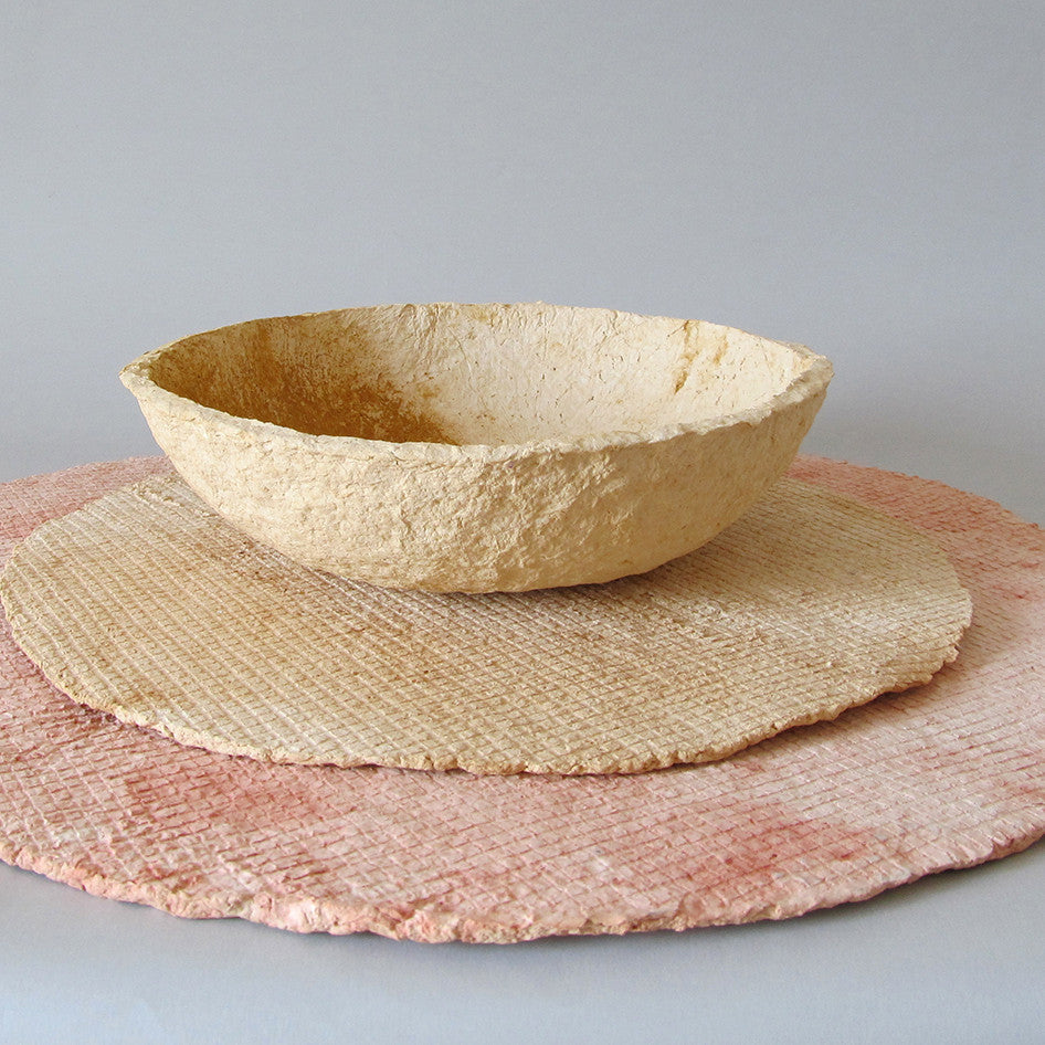 Platters from recycled paper and natural pigments by Studio Laura Daza | Remade By Shop