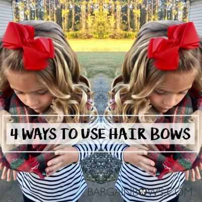 4 Ways to use Hair Bows