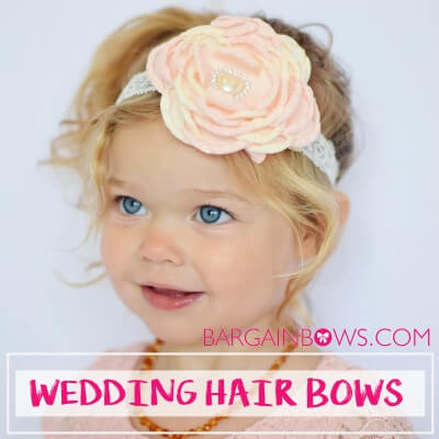 How Hair Bows Make Little Girls Look Extra Adorable for Weddings?