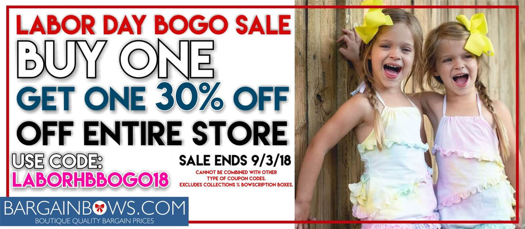 Labor day Bogo Hair Bow Sale