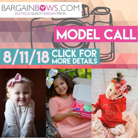 Bargain Bows Hair Bow Model Call