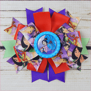 Mulan with Parasol Boutique Bow