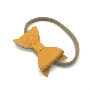 4-inch Classic Leather Boutique bow | Headband or Clip