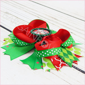Mickey and Minnie Christmas Boutique Bow