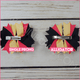 I Love Softball Boutique Bow