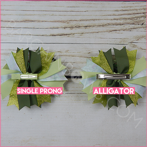 Tiana Boutique Bow (Single Prong, Alligator Clip)