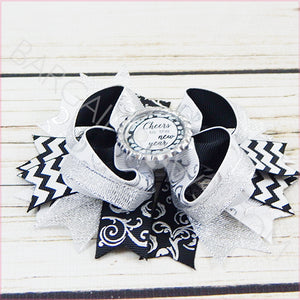 Cheers to the New Year Boutique Bow