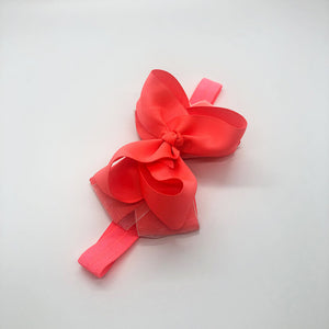 4-inch Neon Orange Organza Boutique Headband