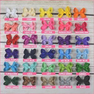 3-inch 30 pc Hair Bow Bundle on Alligator clip | Simply Sweet