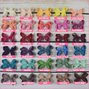 3 inch Solid Color Hair Bow Bundle Sassy Girl -Alligator Clip