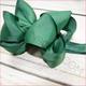 Double Stacked 4 inch Solid Color Hair Bow Headband