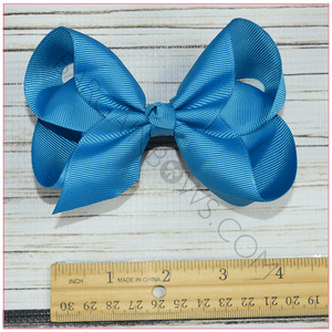 4 inch Solid Color Hair Bow Bundle Sassy Girl -Alligator Clip, hair bows BargainBows