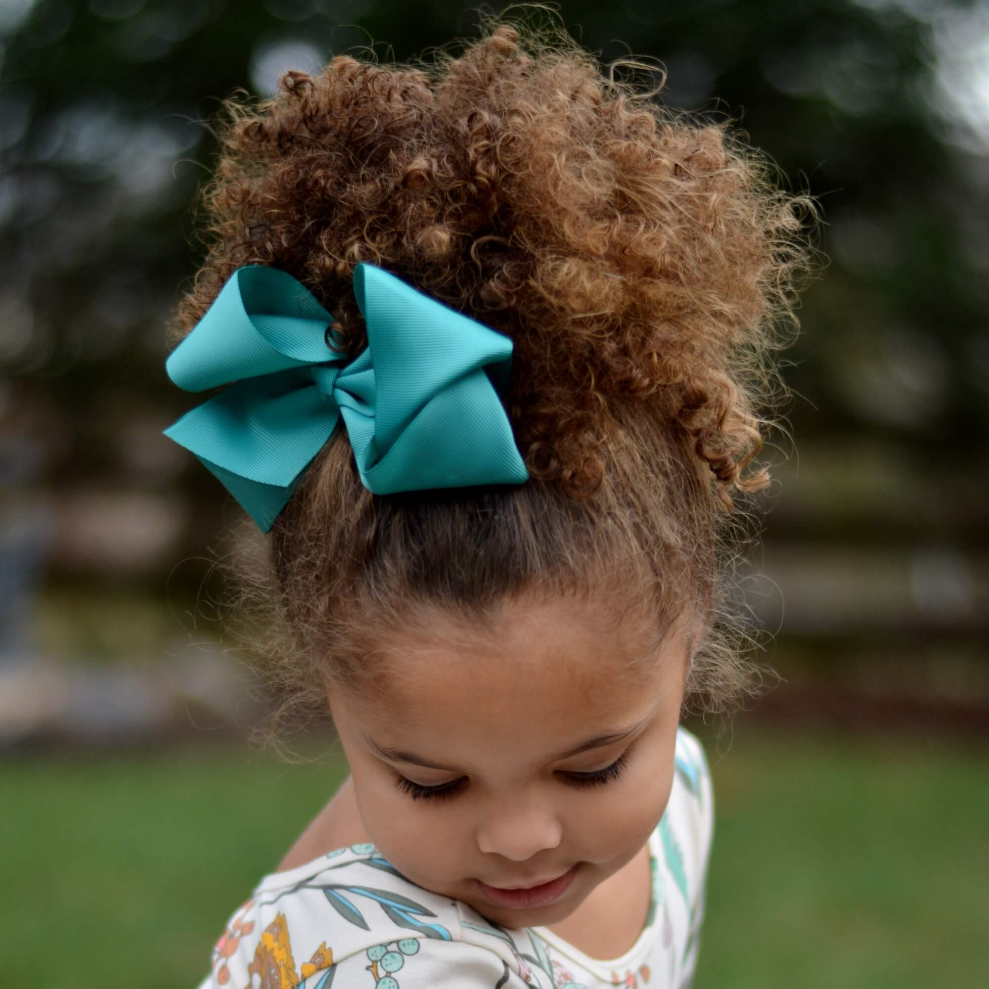 """Green Blue Big Stacked 5/"""" Bows Black Maroon School Hair Bows//Clips Yellow"""