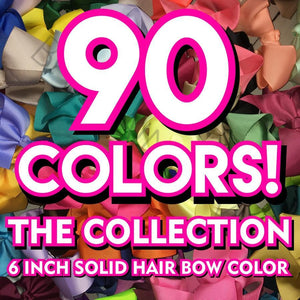 6 inch Solid Color Hair Bow Collection (Alligator Clip) - Bargain Bows