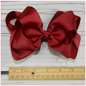 Double Stacked 6 Inch Classy Lady Hair Bow Bundle -Alligator Clip, hair bows BargainBows
