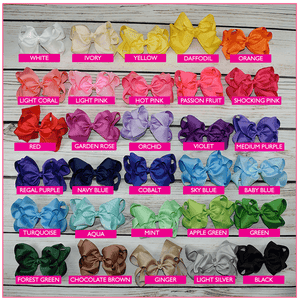 Double Stacked 6 Inch Simply Sweet Hair Bow Bundle -Alligator Clip, hair bows BargainBows