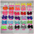 Double Stacked 6 Inch Pretty Lady Solid Color Hair Bow Headband Bundle
