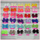 Double Stacked 6 Inch Pretty Lady Solid Color Hair Bow Headband Bundle, hair bows BargainBows