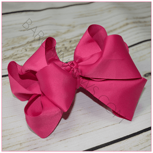 Double Stacked 6 Inch Sassy Girl Hair Bow Bundle -Alligator Clip, hair bows BargainBows