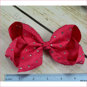 6 inch Rhinestone (Alligator Clip) Hair Bow