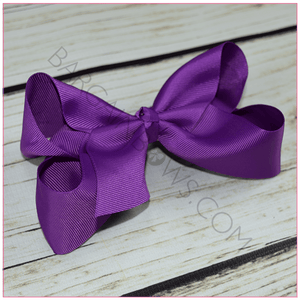 6 inch Solid Color Hair Bow Bundle (Alligator Clip Hair Bows)- Bargain Bows