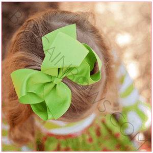 6 inch Solid Color Hair Bow (Alligator Clip) for Cute Babies- Bargain Bows