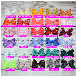 6 inch Solid Color Hair Bow Collection (Alligator Clip)- Bargain Bows