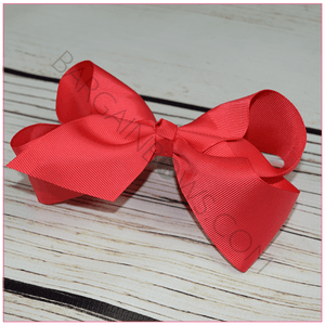 6 inch Solid Color Hair Bow (Alligator Clip) Classy Lady