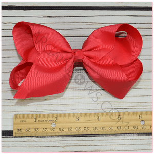 6 inch Solid Color Hair Bow -Alligator Clip, hair bows BargainBows