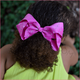 6 inch Rhinestone Hair Bow (Alligator Clip)