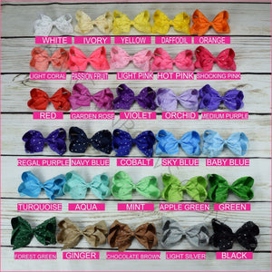 6 inch Rhinestone (Alligator Clip) Hair Bow Bundle