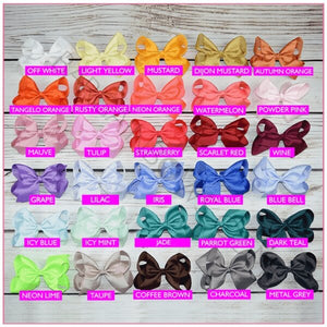 6 inch Solid Color Hair Bow Bundle (Alligator Clip)