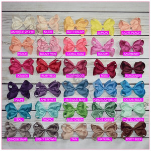 6 inch Solid Color Hair Bow (Alligator Clip) Bundle