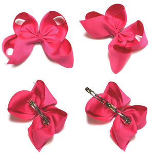 6-inch French Barrette Hair Clip | 90 pc bow Collection