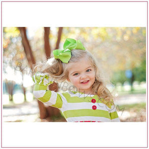 6 inch Solid Color Cute Baby Girl Hair Bow (Alligator Clip)